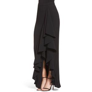 [Eliza J] Black Ruffle Hem Maxi Skirt-NWT-Size 6